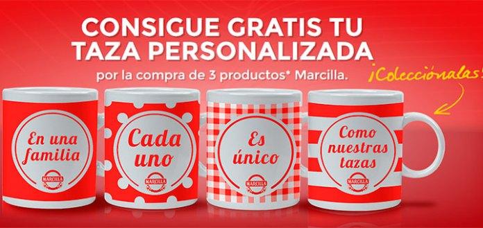 consigue gratis tu taza personalizada con Marcilla