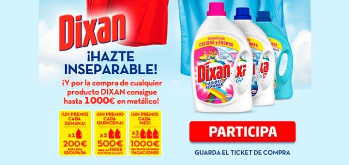 Consigue hasta 1000 euros con Dixan