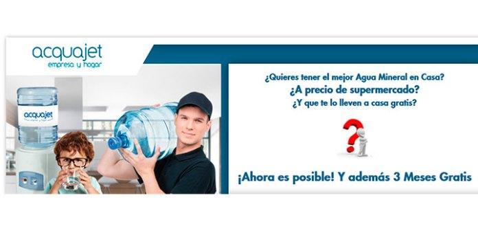 3 meses gratis de agua con Acquajet