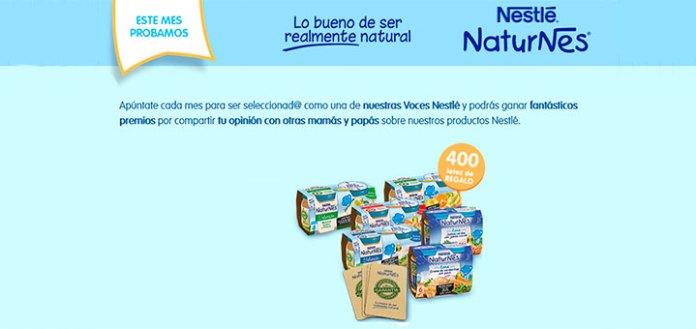 Consigue lotes de productos con Nestlé Bebé