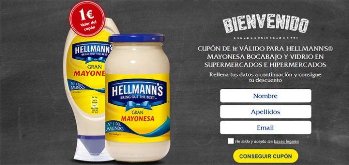 Cupón descuento para mayonesa Hellmann's