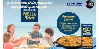 Gallina Blanca sortea 10 lotes de sus productos con paellera Castey