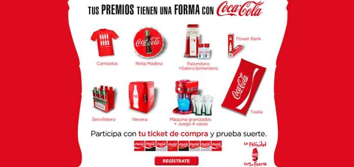 Gana premios con Coca Cola
