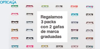 Opticalia sortea 3 packs de gafas graduadas