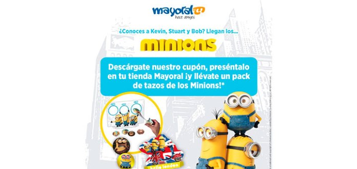 Llévate un pack de tazos de los Minions con Mayoral