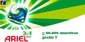 Muestras gratis de Ariel 3 en 1 Pods