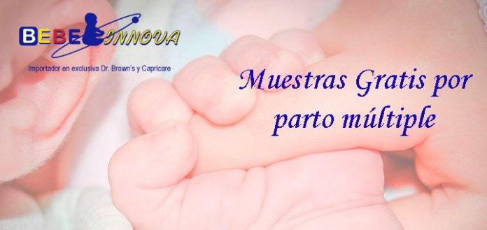 Muestras gratis por parto múltiple con Bebe Innova