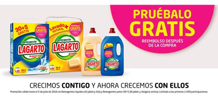 Prueba gratis detergente Lagarto