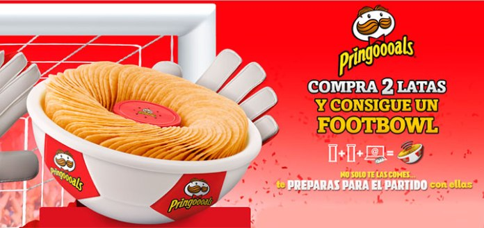 Consigue un footBowl con Pringles
