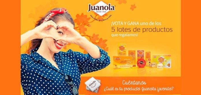 Regalan 5 lotes de productos Juanola