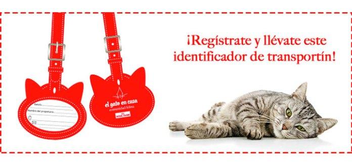 Consigue un identificador para el transportín de tu gato