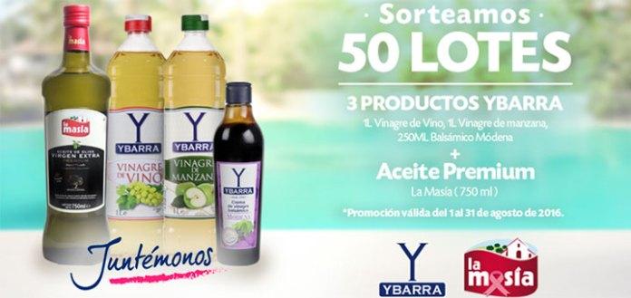 Gana un lote de productos Ybarra y La Masía