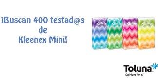 Buscan testadores de Kleenex Mini