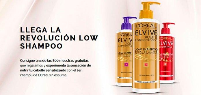 Reparten muestras gratis de Low Shampoo