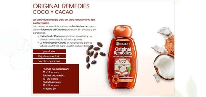 Buscan testadoras de Original Remedies Coco y Cacao