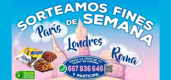 Gana un viaje con barritas Nestlé