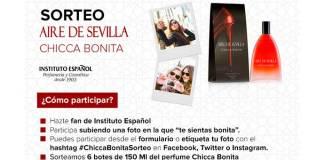 Sortean 6 botes del perfume de Chicca Bonita