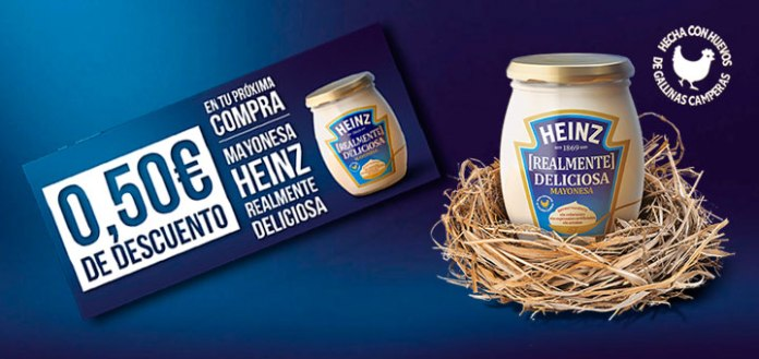 50 centimos de descuento en mayonesa heinz