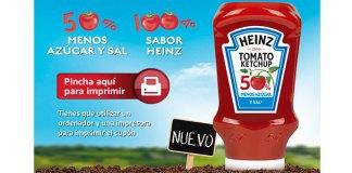 Cupones descuento en Heinz 50% menos azúcar