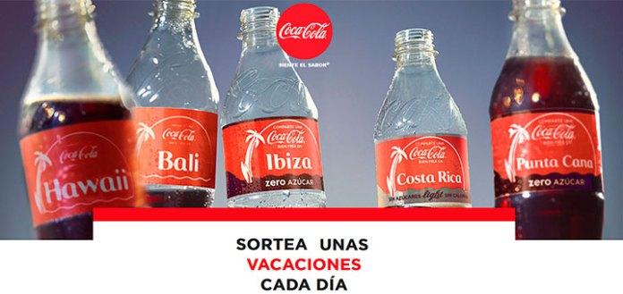 Coca-Cola sortea unas vacaciones cada día
