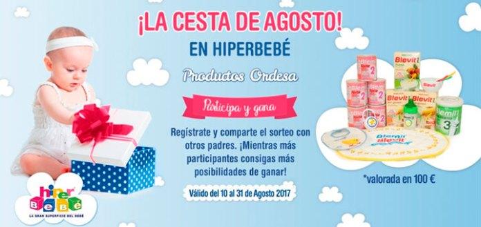 HiperBebé sortea una cesta de productos de Ordesa