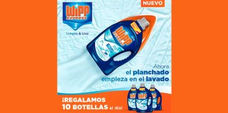 Regalan 10 botellas de Wipp Express al día