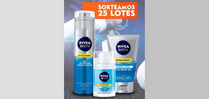 Sortean 25 lotes Nivea Men Active Energy