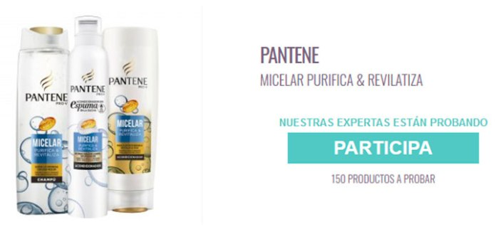 Prueba gratis Pantene Micelar Purifica & Revitaliza