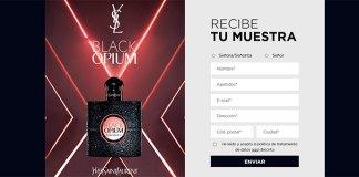 Muestras gratis de la fragancia Black Opium
