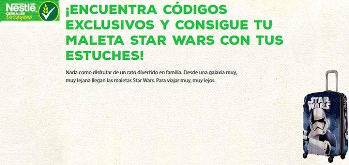 Consigue una maleta Star Wars con Cereales Nestlé