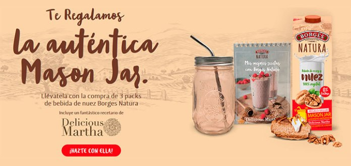 Consigue una auténtica Mason Jar con Borges Natura