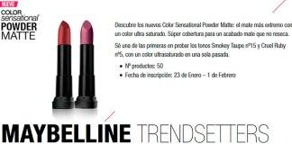 Prueba gratis Color Sensational Powder Matte de Maybelline