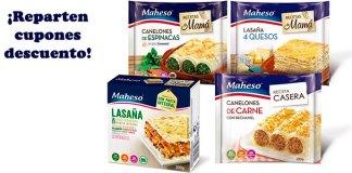 Vales descuento para productos de pasta Maheso