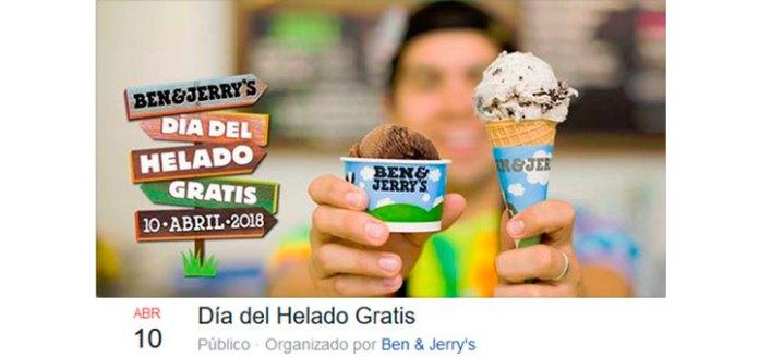 Día del helado gratis con Ben & Jerry's