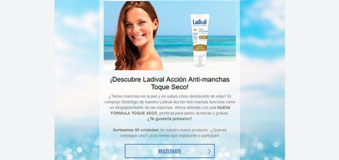 Prueba gratis Ladival Acción Anti-manchas Toque Seco