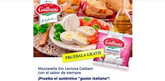 Prueba gratis Mozzarella Sin Lactosa Galbani
