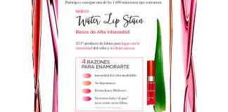 Clarins sortea 1.100 muestras gratis de Water Lip Stain