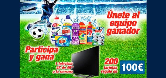 Henkel sortea 1 televisor y 200 tarjetas regalo de 100€