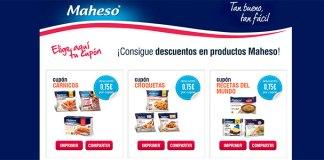 Nuevos cupones descuento en productos Maheso