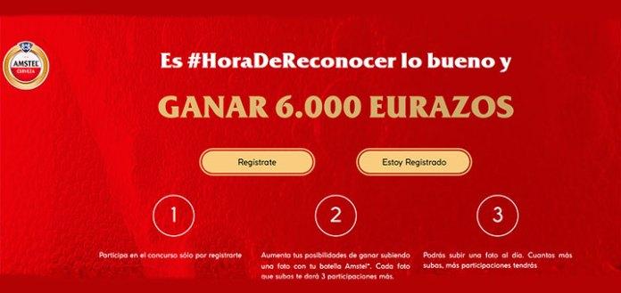 Gana 6.000 euros con Amstel