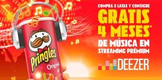 Consigue gratis 4 meses de música con Pringles