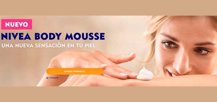 Pueba gratis Nivea Body Mousse