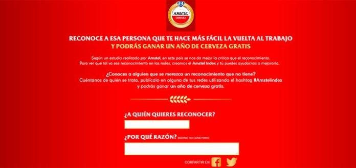 Gana un año de cerveza gratis Amstel