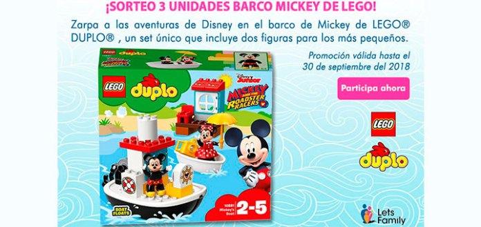 Lets Family sortea 3 Barco Mickey de Lego