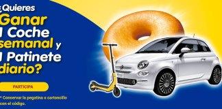 Donuts sortea 1 coche semanal y 1 patinete diario