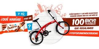 Kinder Bueno regala más de 100 bicis plegables