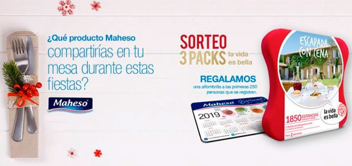 Maheso sortea 3 packs
