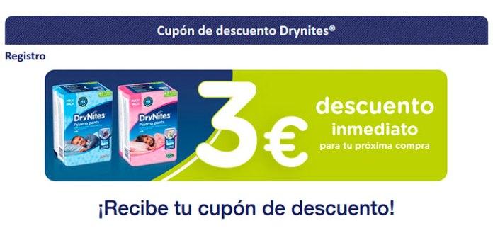 3€ de descuento en DryNites