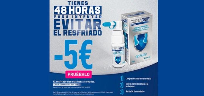 Consigue 5€ de reembolso con Cortagrip
