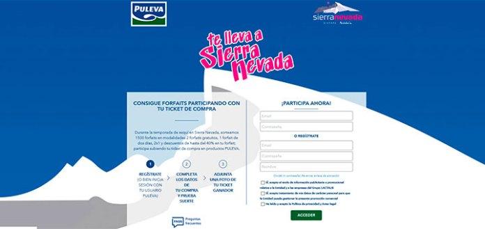 Consigue gratis forfaits en Sierra Nevada con Puleva